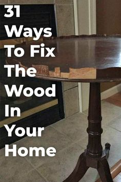 Be able to fix any wood problems in your home with these helpful hacks! #diy #woodfixes #lifehacks