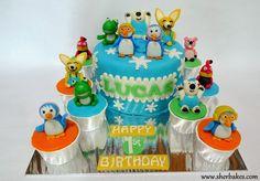 Life is too short, Eat Desserts: Pororo and friends/ Minion and friends Cake and Cupcakes Cupcake Flavors, Cupcake Recipes, Cupcake Birthday Cake, Cupcake Cakes, Buttercream Cake, Fondant Cakes, Fondant Minions, Moist Cupcakes, Cupcake