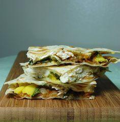 Mango Chicken Quesadillas and Roasted Oregano Strawberry Tostadas - Sweet Life