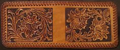 Wallet - carved in Sheridan Style. Uploaded from Myleatherwork.com.