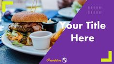 This Creative Free Fast Food Presentation Template comes with various features : Easy to use and customize, Number of Various. Food Presentation, Presentation Templates, Free Fast Food, Microsoft Powerpoint, Food And Drink, Ethnic Recipes, Google, Food Plating