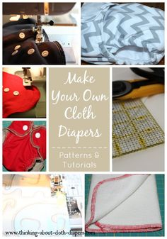 Want to make your own cloth diapers?  Don't miss this big list of patterns, tutorials, & tips from Thinking About Cloth Diapers.