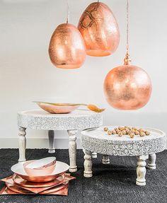table nomad ZENZA enn bois manguier sculptée main