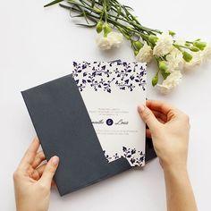 #Paperlust hand model @aimee_mal with this swanky #floral #letterpress invite - designed by @dikamandala |  @misshanue #wedding #weddinginvitation #weddinginspiration #print #letterpressprint #weddinginvitations #invitation #paper #flowers #design #navy #friyay