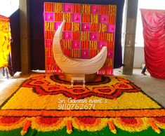 Wedding Reception Entrance, Wedding Stage Decorations, Baby Shower Decorations, Wedding Venues, Cradle Decoration, Flowers Decoration, Ganpati Decoration Design, Wedding Outfit For Boys, Cradle Ceremony