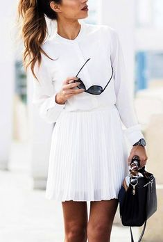 #casual #outfits #street #style #fashion #inspiration | White   Pleats