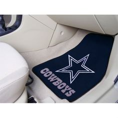Eye catching car mats for your favorite team from http://sportsdecorating.com.  Leland's supports our Cowboys, just 2 miles away.  Set of 2: 18 in x 27 in  Acrylic pile floor mats with fully stitched edges and rubber back. $48.95 per set