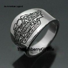 Harley Davidson Legend Ring 316L Sterling Silver Men's Women's Jewelry Biker Motorcycles NEW