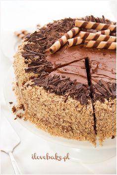 Tort ferrero rocher, najlepszy - przepis - I Love Bake Vegan Sweets, Healthy Sweets, Baking Recipes, Cake Recipes, Vegan Junk Food, Vegan Smoothies, Vegan Kitchen, Savoury Cake, Ferrero Rocher