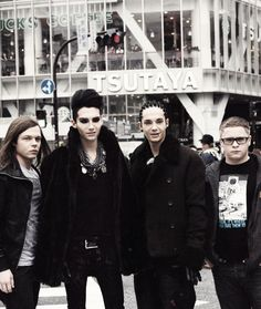 T - Tokio Hotel  They're all just too pretty for humanities own good ok.