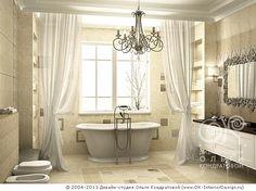#Дизайн классической #бежевой #ванной комнаты с окном http://www.ok-interiordesign.ru/ph19_bathroom_interior_design.php