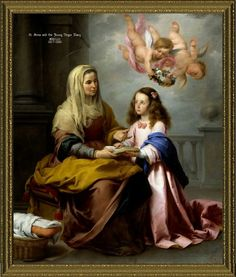 St. Ann & young Virgin Mary
