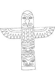 tlingit totem poles coloring pages - photo#17