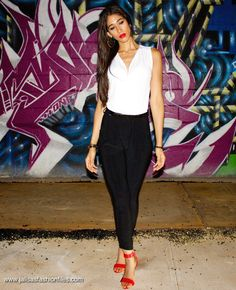 DN: Moim, Park Slope Brooklyn, NY - Jalisa's Fashion Files #ootn #date #chic #jumper #redlips