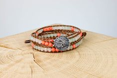 "Armband ""Boho"" Jade, Fair Trade, Belt, Accessories, Fashion, Rhinestones, Beads, Wristlets, Wrap Around"