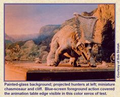 "1977 Vintage /""WHEN DINOSAURS RULED THE EARTH/"" MINI POSTER Art Plate Lithograph"