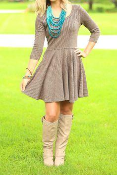 Chasing Chevron Tunic Dress