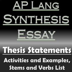Electrical Safety Essay In This Resource I Have Included An Activity For Writing Thesis Statements  For The Ap Lang Synthesis Essay This Activity Can Also Be Used With The  Information Technology Essay also Call To Action In A Persuasive Essay Michael Enos Enosmichael On Pinterest Writing Process Essay