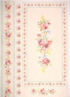 Rice Paper for Decoupage Decopatch Scrapbook Craft Sheet Vintage Roses Border