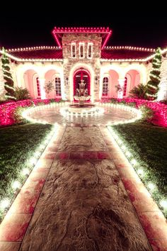 christmas lights tis the season for pink