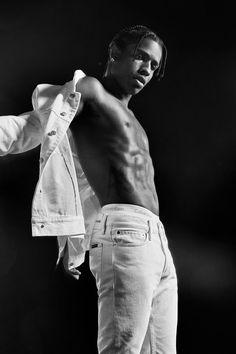 Asap Rocky Wallpaper, Asap Rocky Fashion, Lord Pretty Flacko, Black And White Photo Wall, Black And White Aesthetic, Fine Men, Hot Boys, Swagg, Pretty Boys