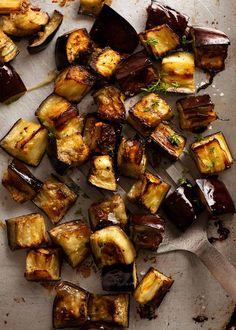 Roasted Eggplant Salad, Roast Eggplant, Cooking Eggplant, Eggplant Recipes, Vegetable Dishes, Vegetable Recipes, Lentil Recipes, Recipetin Eats, Lentil Salad