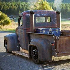 Hot Rod pickup with stacks