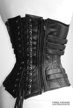 Underworld Leather Replica Corset Back