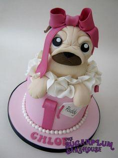 Gift Box Pug Cake! - Cake by Sam Harrison