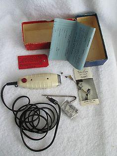 Cadet Hair Clipper Magnetic Barber Vintage Complete in Original Box Model G