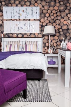 Power purple accents add vibrance to a room.