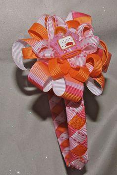 Pink Purse Girls Ribbon Woven Headband and by AdelaidDesigns