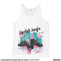 urban lipstick jungle logo for girls All-Over print tank top Tank Tops