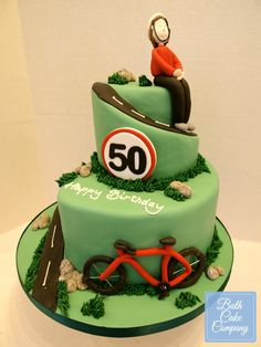 Cycling Themed Birthday Cake by Bath Cake Company