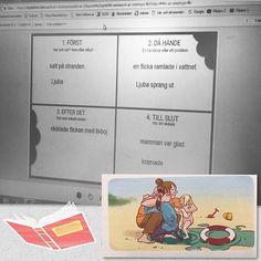 En återberättande text i Ljubas dagbok sammanfattad med nyckelord i Digital Intro. Även om kläderna inte riktigt stämmer i varje sekvensbild, är det innehållet i texten och de fina bilderna som räknas mest. ・・・ ・・・ #LivetiBokstavslandet  #läromedel #arbetsbok #lärarhandledning #digitalintro #lärare #fröken #kram #mittklassrum #boktips #läsa #skriva #språkutvecklandearbetssätt #genrepedagogik #lärarensvardag #lärareföljerlärare #skola #elever #världensviktigastejobb #åk1 #åk2 #åk3 #lära...