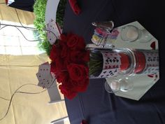 Centerpiece for a casino themed event at The Marten House Hotel & Lilly Conference Center - Indianapolis, IN