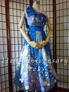 着物リメイクドレス・古布リメイク販売/こはる/大人かわいいリメイクドレスをご提案♪ Upcycle kimono