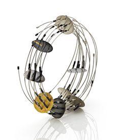 Maria Rosa Franzin bracelet Unique Piece Materials: Pure gold, gold, oxidized silver, steel 1665€ - 2016 - http://www.no-gram.com/maria-rosa-franzin-/968-maria-rosa-franzin-47.html