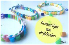 armbandjes maken van strijkkralen, hamabeads, crafts for kids, knutselen met kinderen, strijkkralen armbandjes