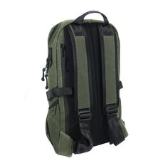 ARKTYPE Dashpack Backpack - Olive Drab Waxed Canvas - Perspective - Shoulder Straps