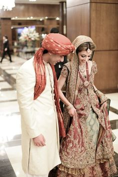 Traditional Indian wedding. The bride and the Groom at an auspicious day at their best.