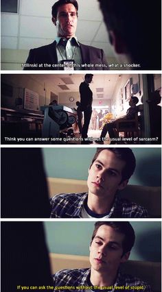 Teen Wolf Season 3 episode 11 Alpha Pact Scotts dad and stiles, love this show. I dont know what ill do with myself till january...