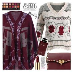 """Poncho Sweater"" by vanjazivadinovic ❤ liked on Polyvore featuring Valentino, Urban Decay, Dolce&Gabbana, Anastasia Beverly Hills, dresslily and polyvoreeditorial"