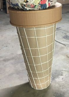 How to Make a Giant Ice Cream Prop - Mia Cunningham - How to Make a Giant Ice Cream Prop giant ice cream cone - Giant Ice Cream, Diy Ice Cream, Ice Cream Parlor, Ice Cream Theme, Candy Land Christmas, Candy Christmas Decorations, Carnival Decorations, Carnival Parties, Carnival Birthday