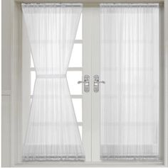 the abri rod pocket crushed sheer curtain panel simplify the casual and contemporary styling of home decor the highlight of this panel is the crushed sheer - Door Panel Curtains