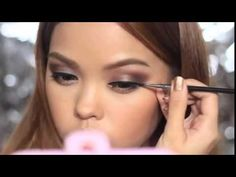 Maquillage yeux marrons - YouTube