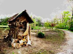 Nieuwe blokhut in het vrijbroekpark in Mechelen. Een beetje bewerkt ;-)