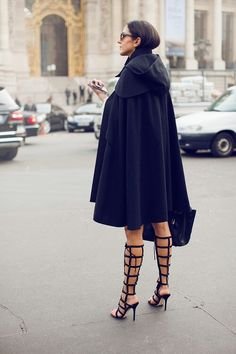 Gladiator heels..stunning not so sure about cape though