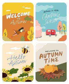 Autumn Illustration, Graphic Design Illustration, Digital Illustration, Good Notes, Free Illustrations, Simple Art, Character Illustration, Cute Stickers, Sticker Design