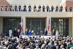 Five presidents, five first ladies at the April 25, 2013,  dedicationof the George W. Bush Presidential Center. (Louis DeLuca/The Dallas Morning News)